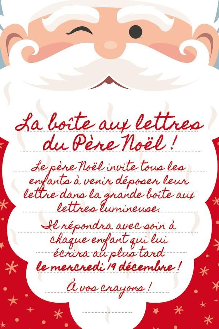 Idee Lettre Pere Noel.Boite Au Lettre Pere Noel