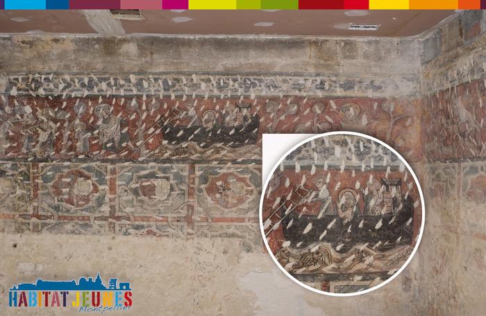 Journées du patrimoine 2018 - La chambre peinte de l'Ostal de Carcassonne