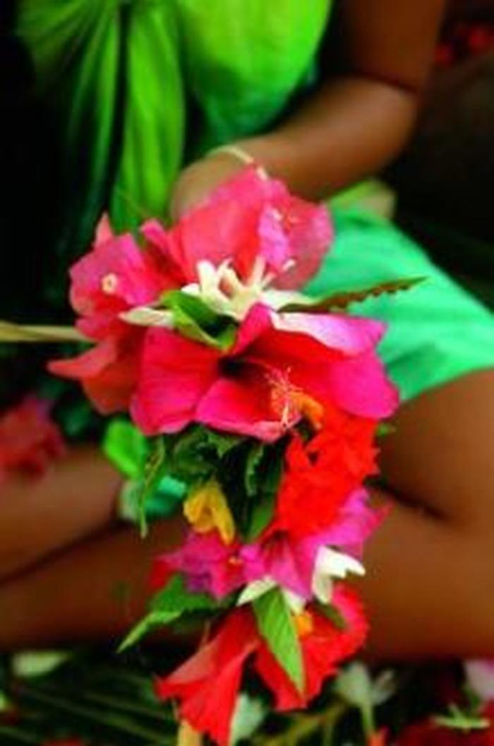 Journées du patrimoine 2018 - La coiffe Tahitienne (couronne de fleurs)