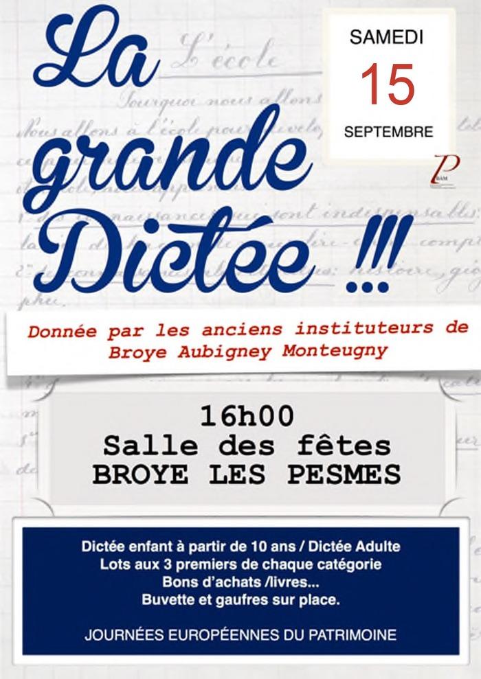 Journées du patrimoine 2018 - La grande dictée à Broye-les-Pesmes