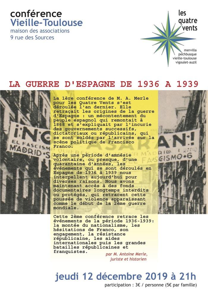 La guerre d'Espagne de 1936 à 1939