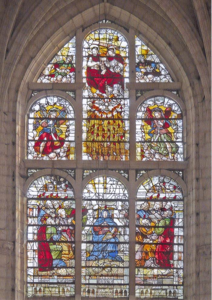 Crédits image : église Saint-Nizier de Troyes, vitrail de la Pentecôte - Photographie : Mr Fourrier