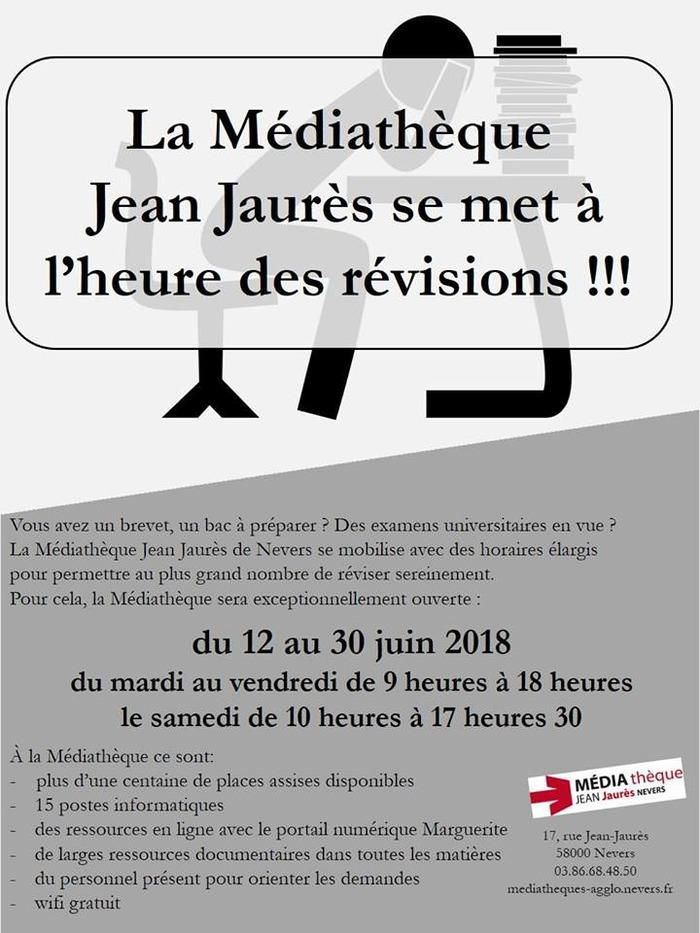 La médiathèque Jean Jaurès se met à l'heure des révisions !