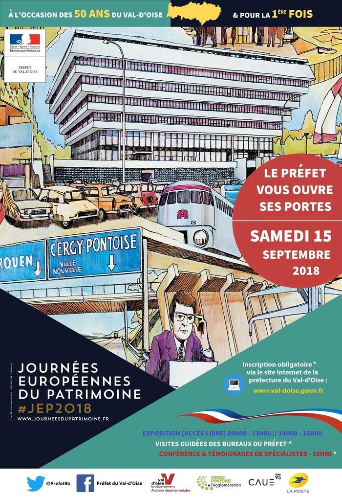 Journées du patrimoine 2018 - La préfecture du Val-d'Oise vous ouvre ses portes - visites guidées