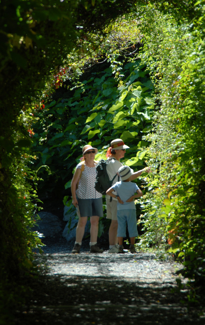 La visite guidée des jardins