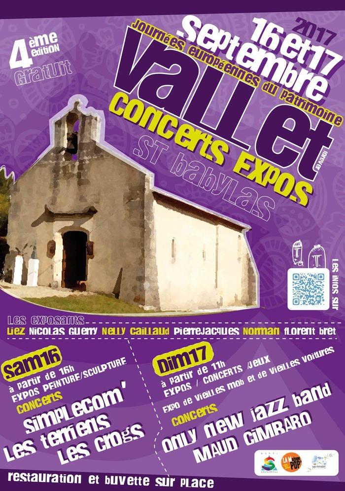 Journées du patrimoine 2017 - Expositions d'artistes locaux autour de l'église Saint-Babylas de Vallet