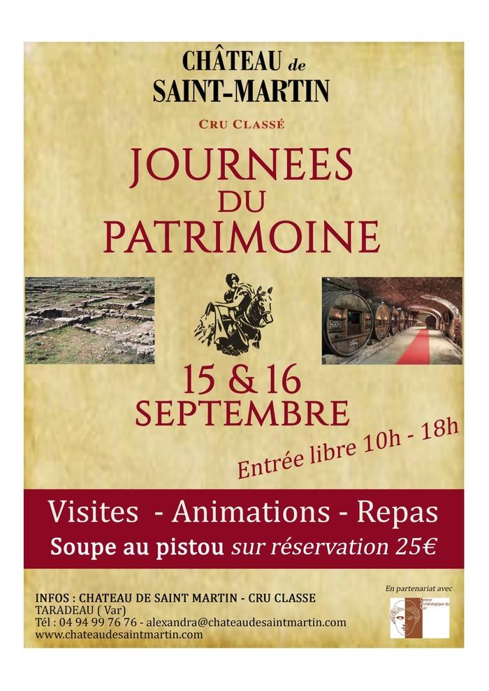 Journées du patrimoine 2018 - Le Château de Saint-Martin dévoile son Histoire