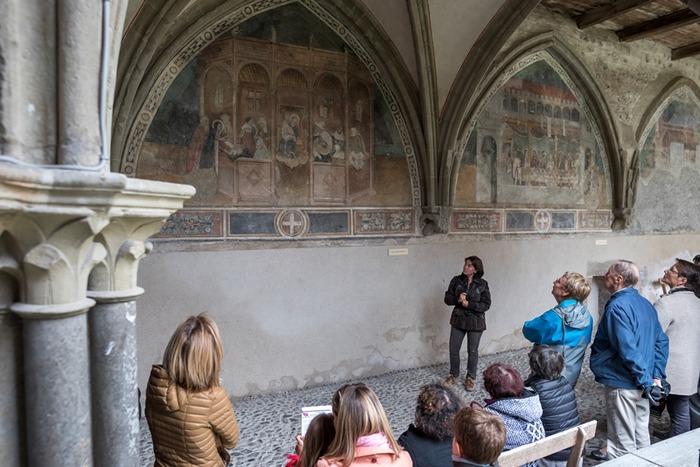 Journées du patrimoine 2018 - Le cloître et ses peintures murales de l'abbaye d'Abondance.