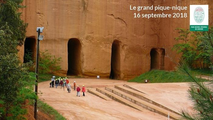 Journées du patrimoine 2018 - LE GRAND PIQUE-NIQUE : venez savourer votre Parc du Luberon aux Mines de Bruoux à Gargas !
