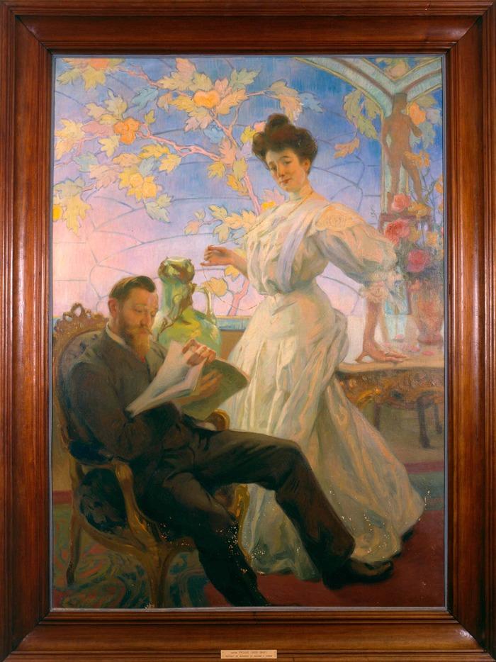Crédits image : V. Prouvé, portrait de M. et Mme Corbin, musée de l'Ecole de Nancy. (c) C. Philippot
