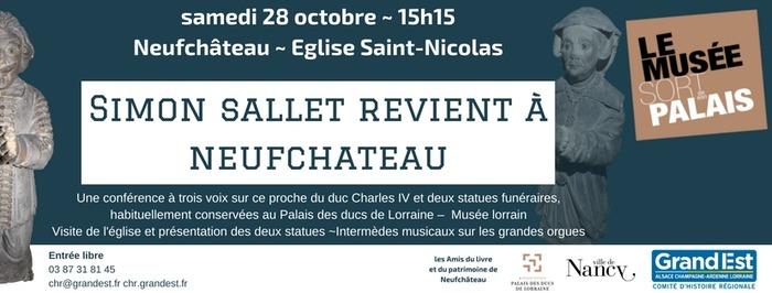 Le Musée sort de son palais : Simon Sallet revient à Neufchâteau. Autour du monument funéraire d'un officier ducal