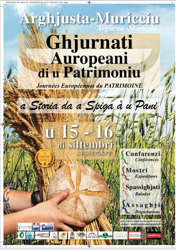 Journées du patrimoine 2018 - Le partage du blé au pain