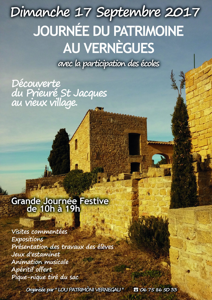 Journées du patrimoine 2017 - le prieuré saint-jacques au vieux vernègues