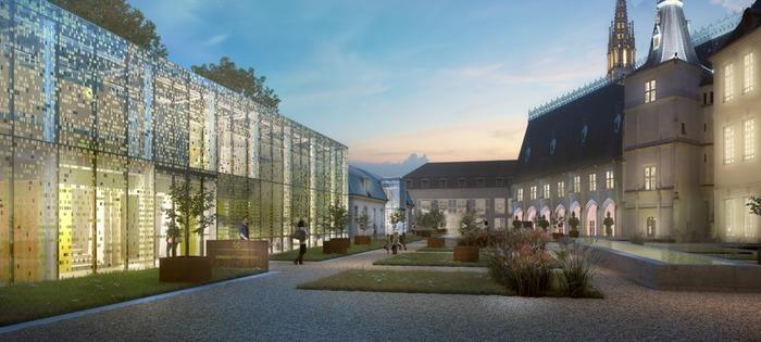 Crédits image : Agence Dubois & Associés (Ph. Ch. Dubois - F. Mazaud - E. Tardu, Architectes Muséographes)/ Olivier Defaye - Infographiste