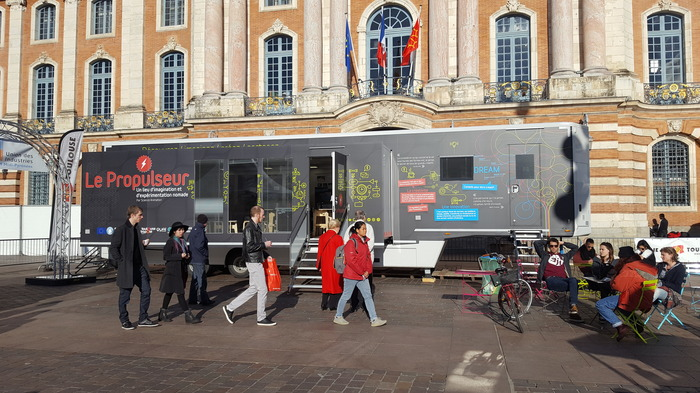 Le Propulseur, studioet fablab mobile