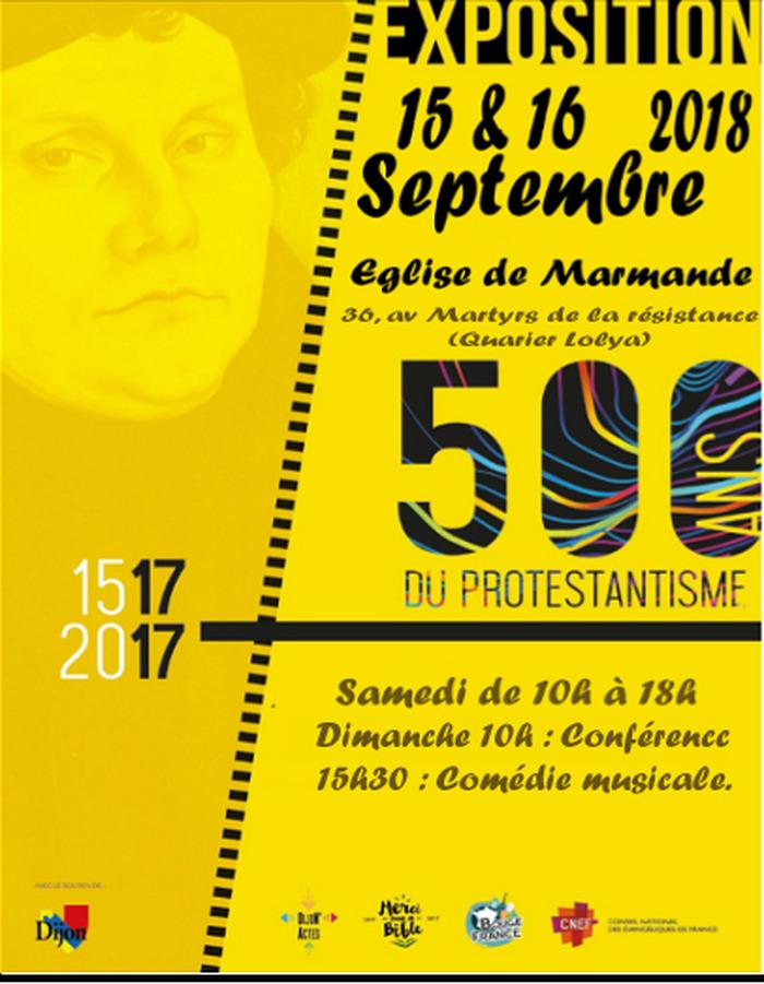 Journées du patrimoine 2018 - Exposition retraçant les 500 ans de la réforme et conférence au sein de l'église