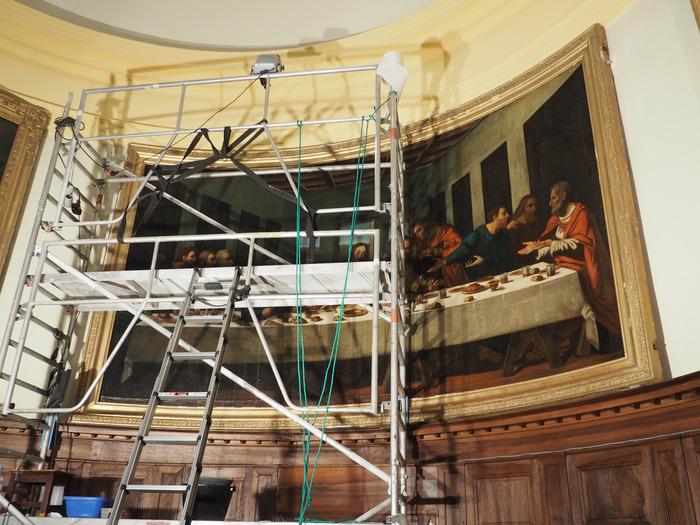 Journées du patrimoine 2018 - La copie du tableau de la Cène : chronique d'une restauration.