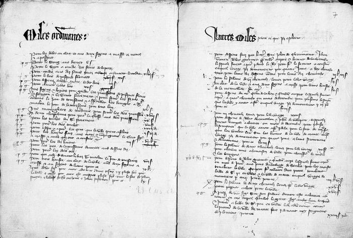 Crédits image : © Comptes de la ville (1381-1382). Archives municipales, Ville de Mantes-la-Jolie.