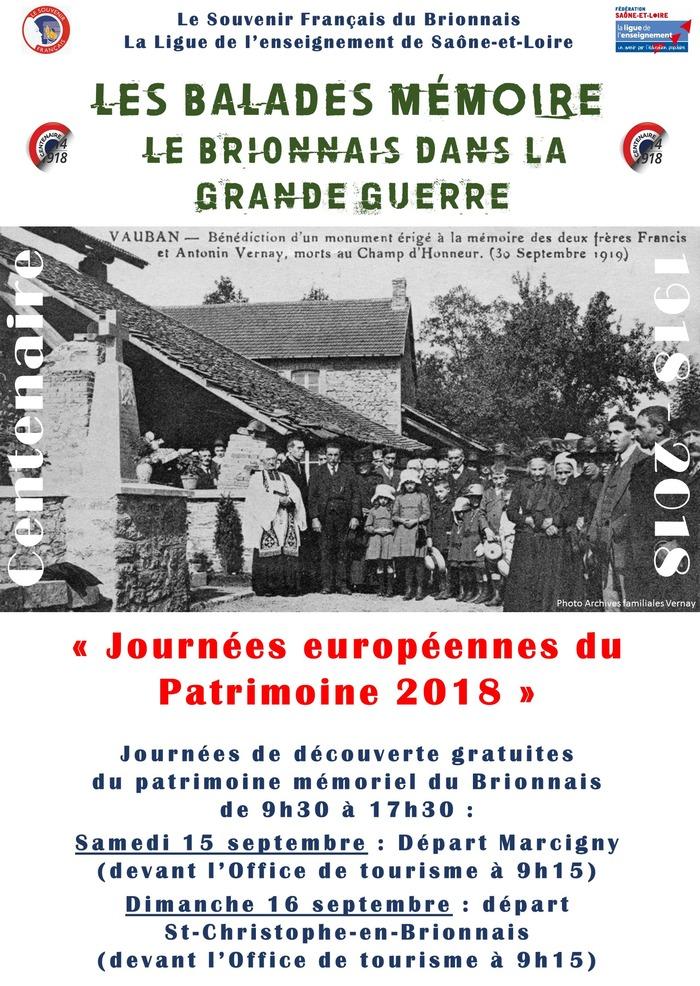 Journées du patrimoine 2018 - Les Balades