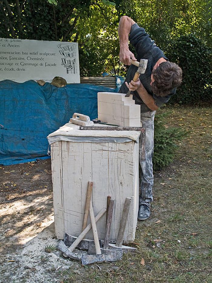 Journées du patrimoine 2018 - Atelier démonstration de taille de pierre :