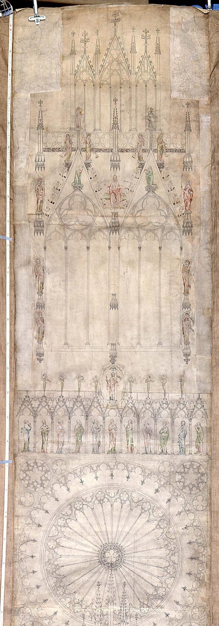 Crédits image : Dessin de la cathédrale conservé au Musée de l'Oeuvre Notre-Dame, photo: Mathieu Bertola