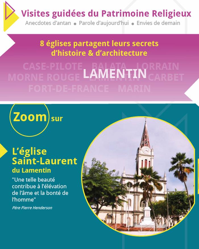 Journées du patrimoine 2018 - Visite de l'église Saint-Laurent du Lamentin et concert d'orgue le dimanche (17h)