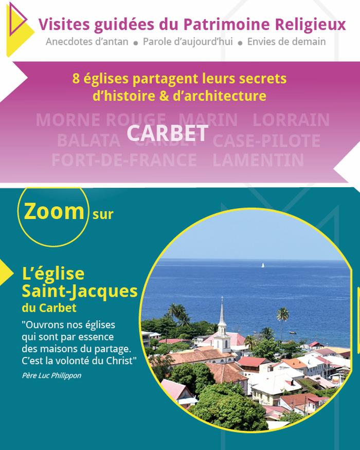 Journées du patrimoine 2018 - Zoom sur l'église Saint-Jacques du Carbet