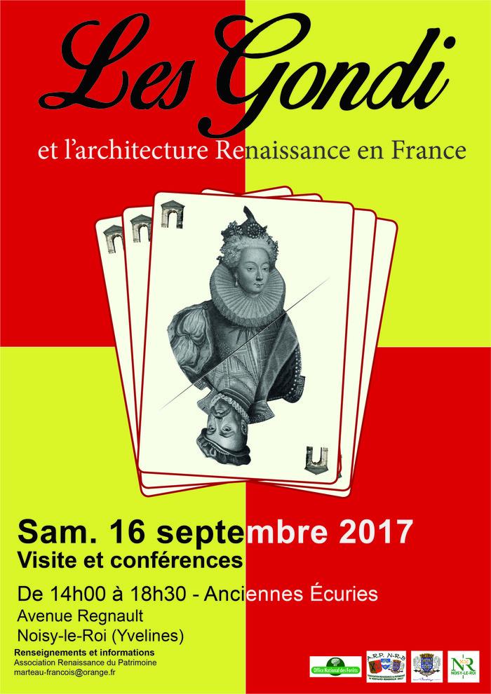 Journées du patrimoine 2017 - Les Gondis et l'Architecture Renaissance en France
