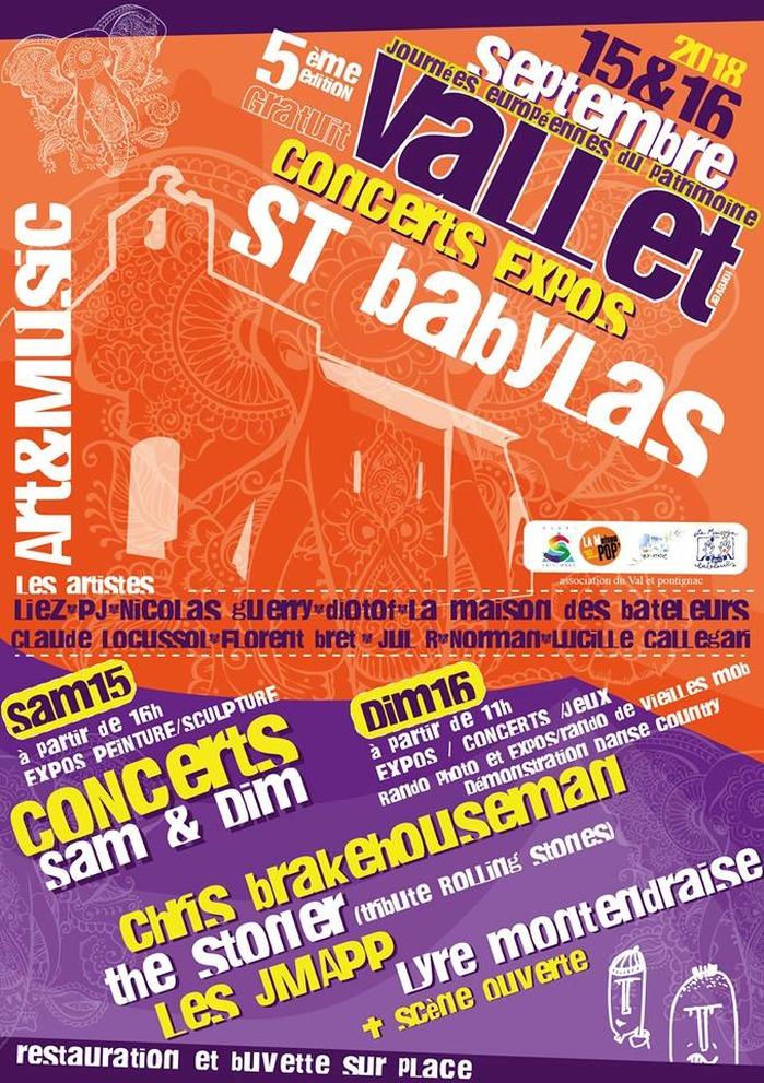 Journées du patrimoine 2018 - Les journées du Patrimoine de Vallet : Saint-Babylas en fête