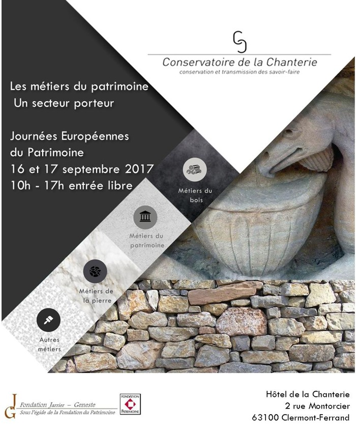 Journées du patrimoine 2017 - Les métiers du patrimoine : un secteur porteur