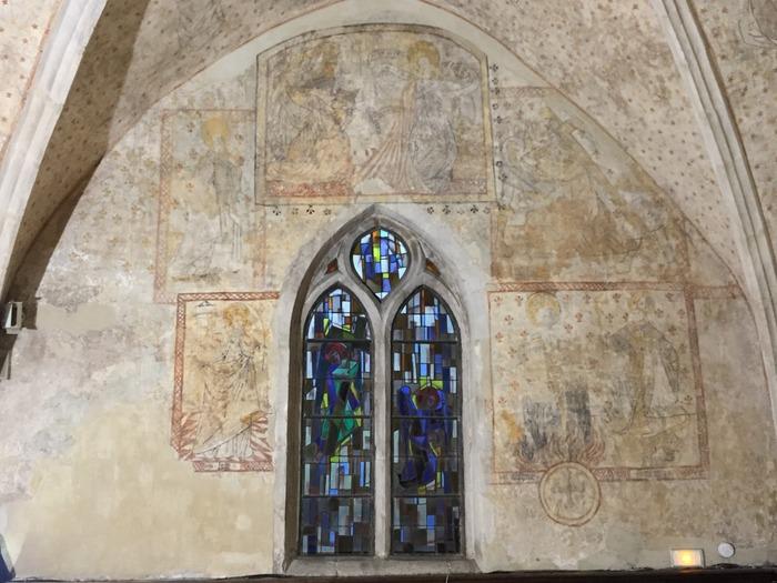 Journées du patrimoine 2018 - les peintures murales restaurées du XVe siècle de l'église Saint-Martin