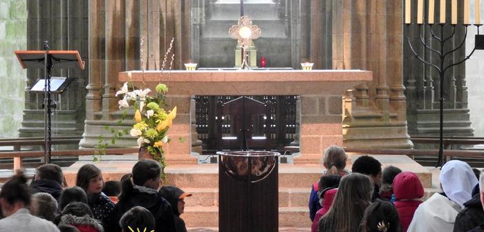 Les Petits Miquelots à l'Abbaye du Mont-Saint-Michel