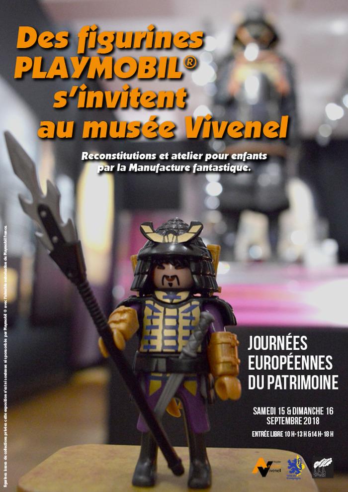 Journées du patrimoine 2018 - Des figurines Playmobil ® s'invitent au musée Vivenel