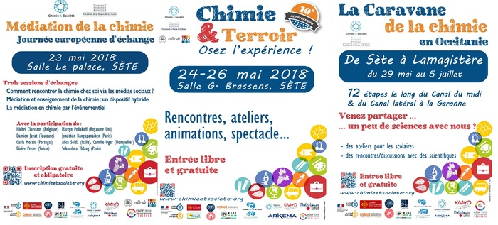 Canal Chimie 2018 : trois événements en Occitanie