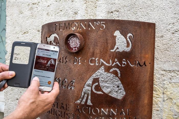 Journées du patrimoine 2018 - Les Témoins - balade numérique créée par Yann Hervis (artiste-plasticien) et A-Marie Royer-Pantin (auteur) au gré de totems en acier corten