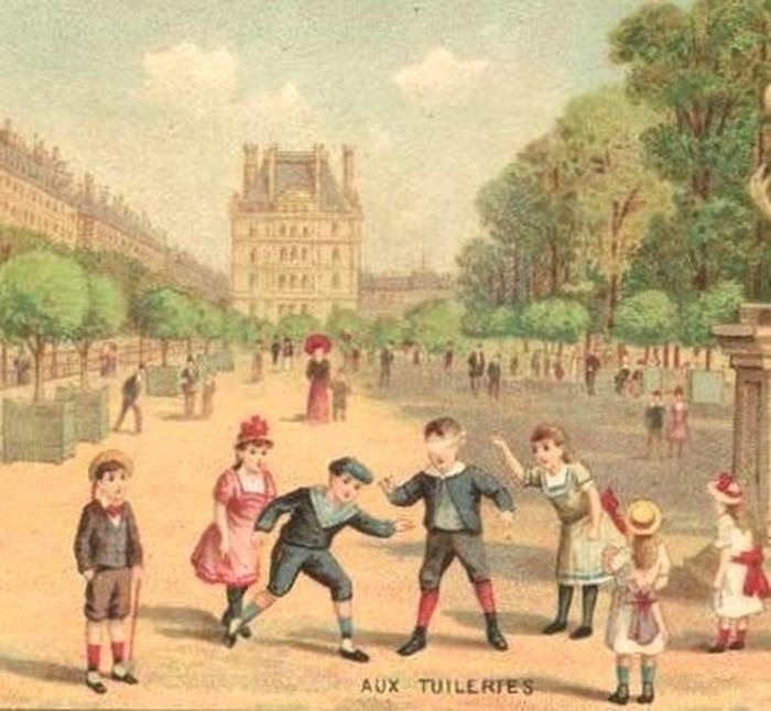 Crédits image : Chromo Le jardin des Tuileries, vers 1900, collection particulière