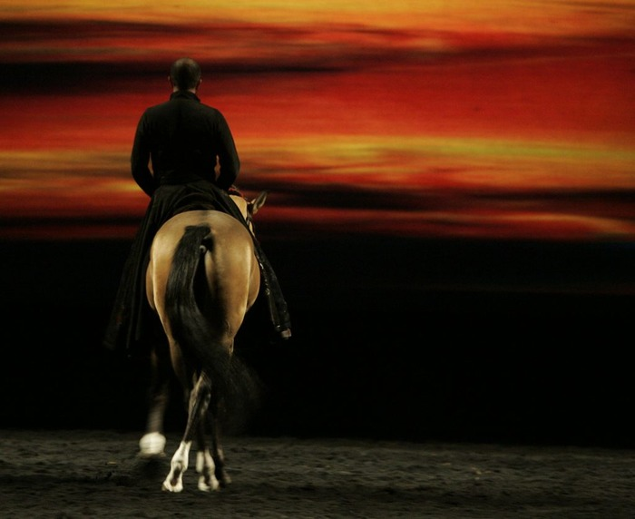 LEVER DE SOLEIL avec Bartabas, son cheval Le Caravage et Marc Minkowski
