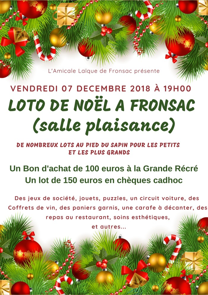 Loto de Noël à Fronsac