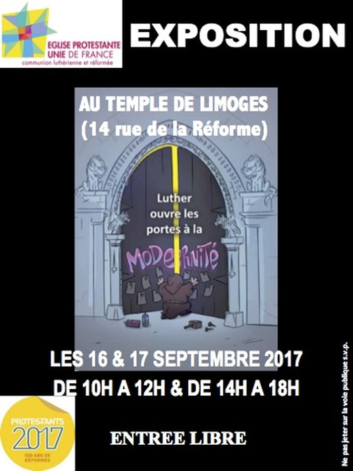 Journées du patrimoine 2017 - Luther ouvre les portes à la modernité