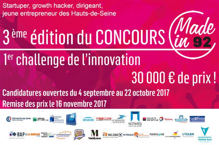 Made in 92, le concours des jeunes entreprises des Hauts-de-Seine !