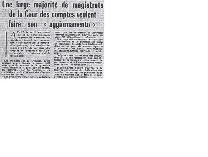 Journées du patrimoine 2018 - « Mai 1968 » à la Cour des comptes