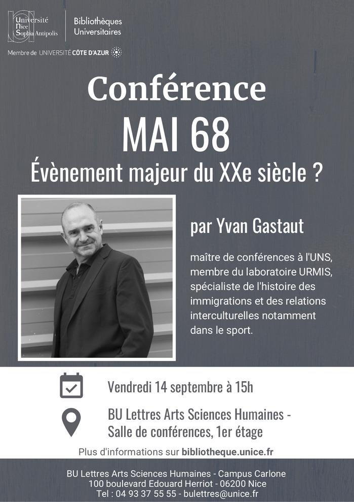 Journées du patrimoine 2018 - « Mai 68, évènement majeur du XXe siècle ? »