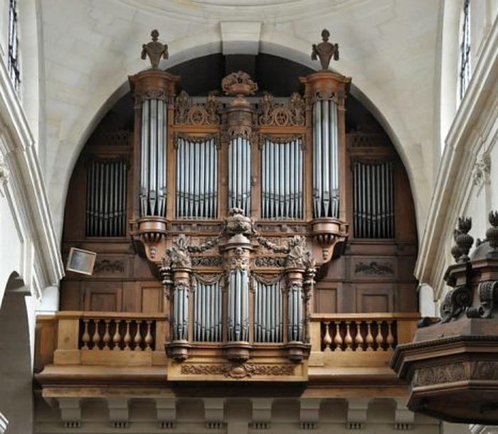 Crédits image : Photo de l'orgue de St-Jacques du Haut Pas (photo du site patrimoine-histoire.fr)