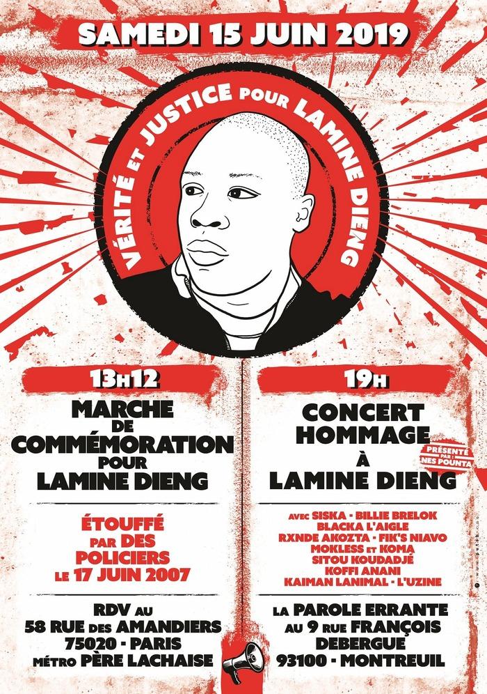Marche de commémoration et concert « Hommage à Lamine Dieng »
