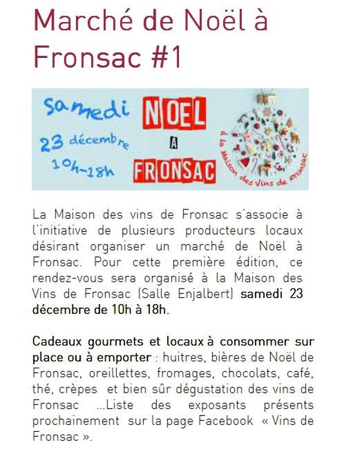 marché de Noël à Fronsac