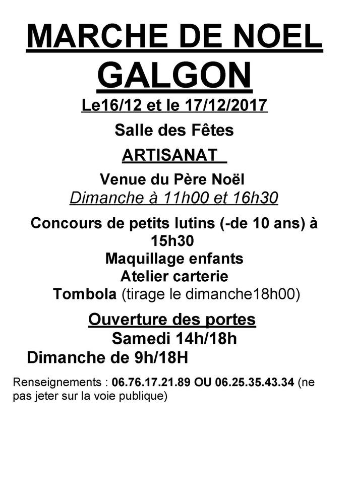Marché de Noël Galgon