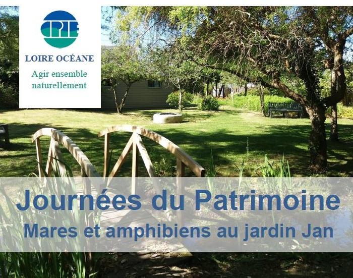 Journées du patrimoine 2018 - Mares et amphibiens au jardin Jan - expositions - observations - sensibilisation
