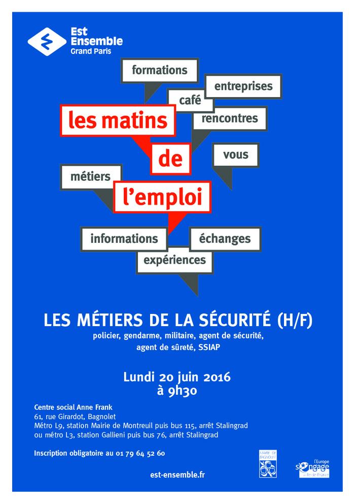 Event Matin De L Emploi Sur Les Metiers La Securite 181313