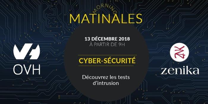 Matinale Cyber-sécurité