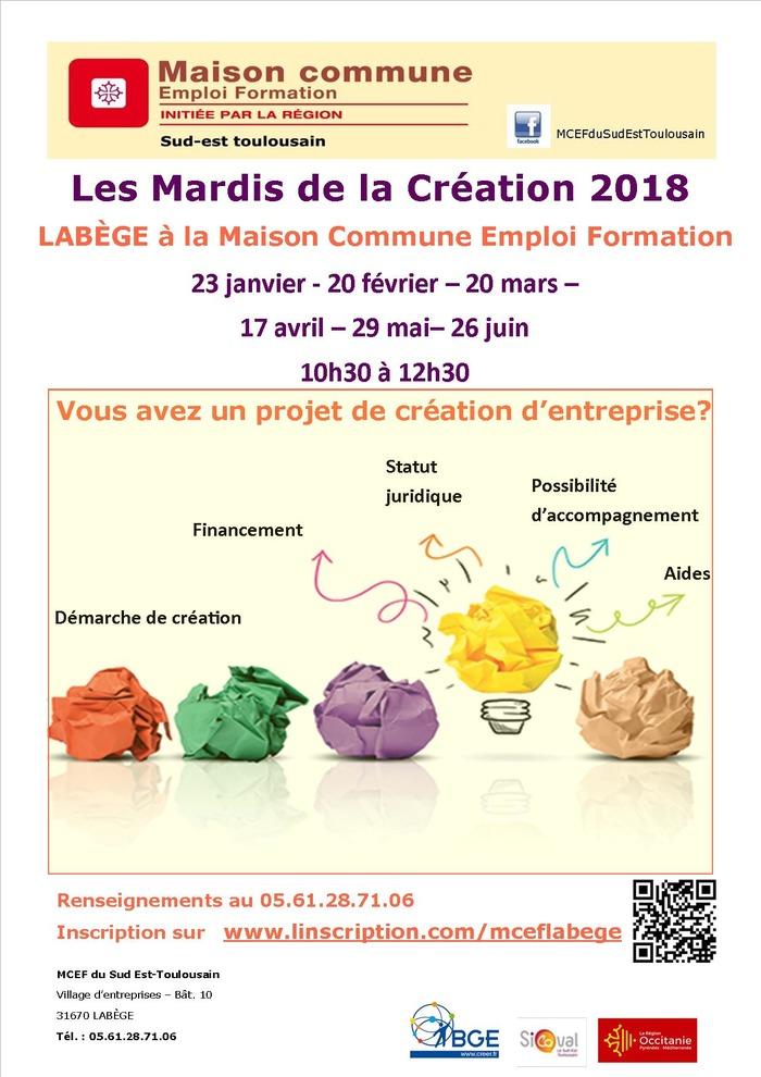 MCEF Labège : les mardis de la création